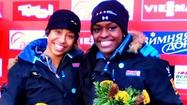 Chicagoan Aja Evans, in her rookie season as a bobsled pusher, earned her first World Cup medal Friday in Igls, Austria.