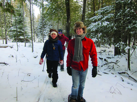 Snowshoe or ski for free at a local nature preserve
