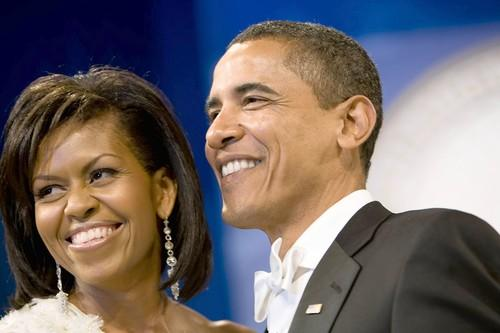 President Barack Obama and First Lady Michelle Obama dance at the Western Ball in the Convention Center in Washington, D.C., on Tuesday.