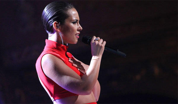Alicia Keys, shown onstage at the BET Honors in Washington on Saturday, will perform the national anthem at this year's Super Bowl, the Associated Press reports.