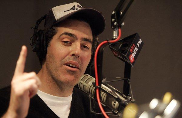 Talk radio host Adam Carolla in the Infinity radio studios in Hollywood in January 2006, is the subject of a civil suit brought by three former business associates.