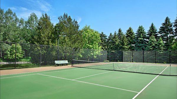 Tennis court at Michael Jordan's Highland Park compound.