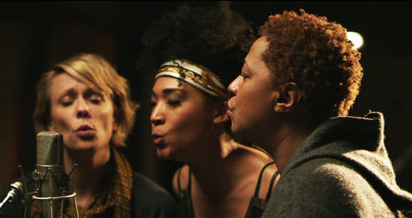 "Jo Lawry, Judith Hill and Lisa Fischer in ""Twenty Feet From Stardom."""