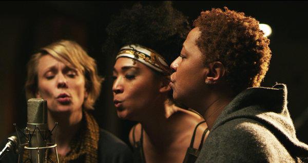 "Jo Lawry, Judith Hill and Lisa Fischer in ""Twenty Feet From Stardom."""