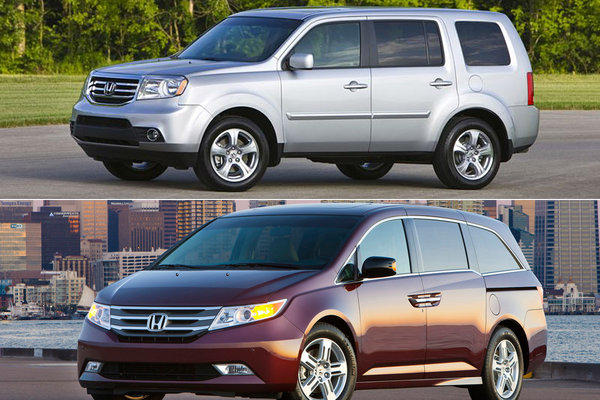 The Pilot, top, and the Odyssey are the Honda models that might have faulty airbags.