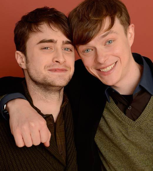 Sundance Film Festival 2013 celebrity sightings: Actors Daniel Radcliffe and Dane DeHaan pose for a portrait during the 2013 Sundance Film Festival at the Getty Images Portrait Studio at Village at the Lift.