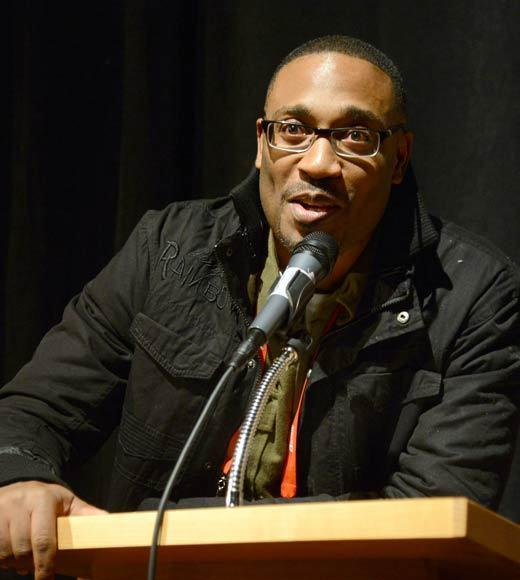 Director George Tillman Jr. speaks at the 'The Inevitable Defeat Of Mister And Pete' premiere during the 2013 Sundance Film Festival.