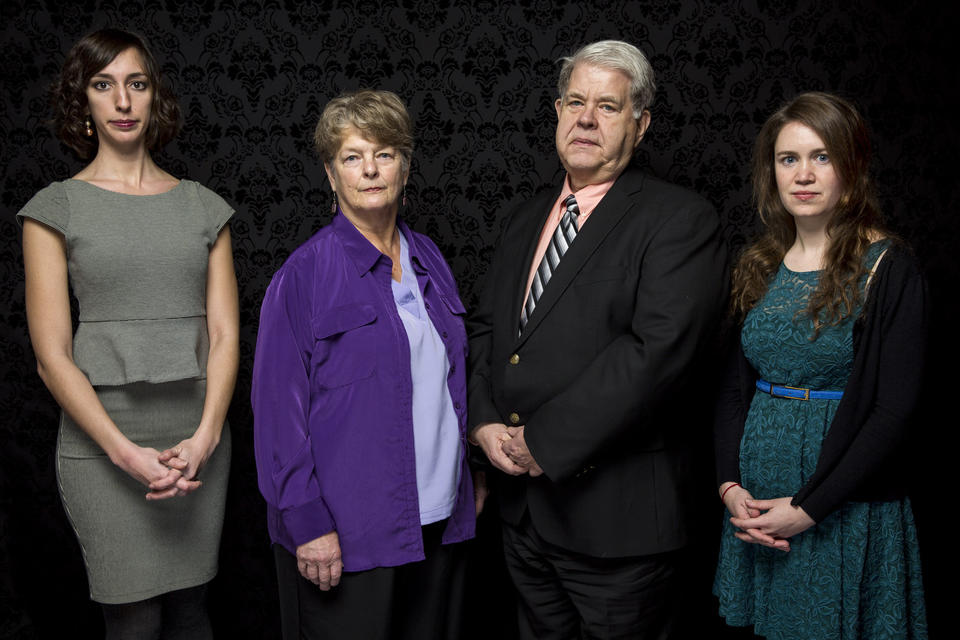 """""""After Tiller"""" director Lana Wilson, left, with her subjects, Dr. Susan Robinson and Dr. LeRoy Carhart, and co-director Martha Shane at the Sundance Film Festival. The documentary looks at doctors who perform late-term abortions."""
