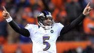 Joe Flacco didn't exactly channel his inner Joe Namath, but the Ravens quarterback definitely likes his team's chances in Sunday's AFC championship game against the New England Patriots.