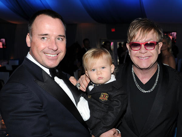 <br>Elton John and David Furnish announced the birth of their second son on the singer's website Wednesday.