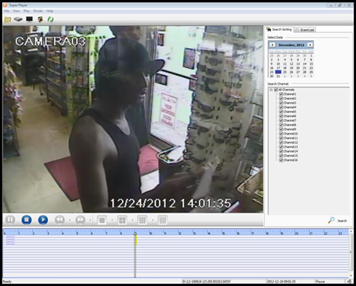 Video surveillance footage from a Mangonia Park gas station shows a suspect who used stolen credit cards to make purchases on Dec., 24, said the Palm Beach County Sheriff's Office