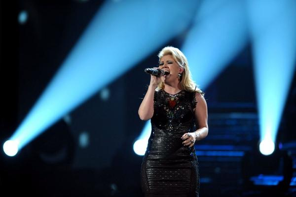 Kelly Clarkson performs a medley of her songs at the 40th Annual American Music Awards in Los Angeles. Clarkson and fun. are just two of the acts performing at the inaugural festivities.