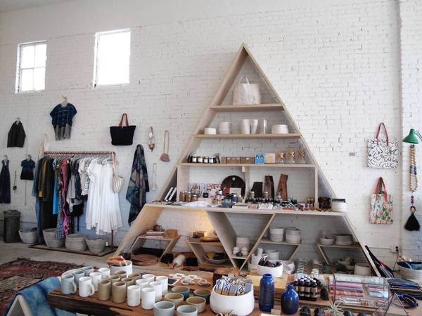 General Store has new and vintage finds such as clothing and books.
