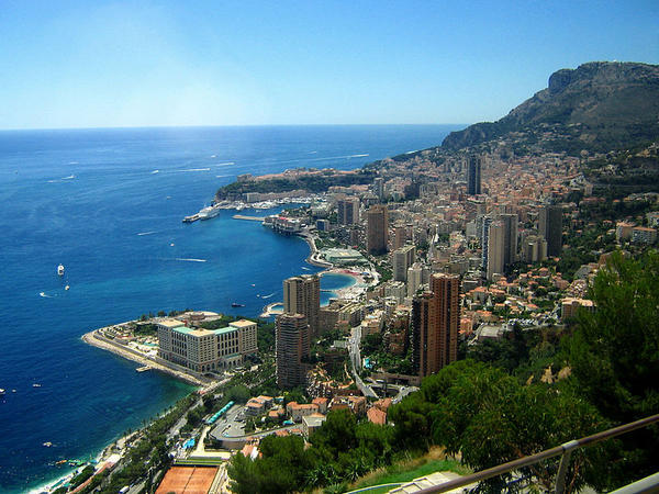 A view of Monte Carlo, Monaco from the east.