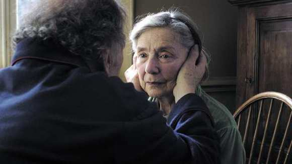 Jean-Louis Trintignant as Georges and Emmanuelle Riva as Anne in 'Amour.'
