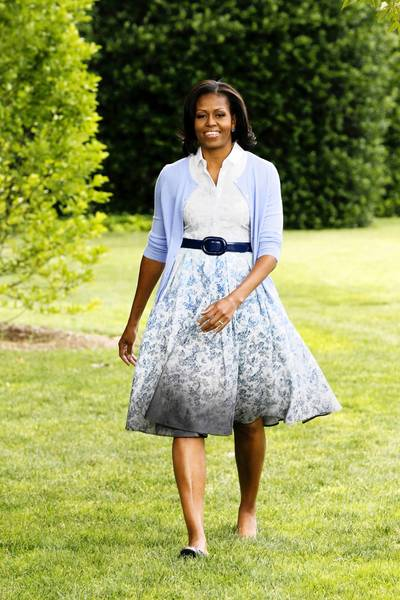 First lady Michelle Obama has used belts to enhance the fit 'n' flare silhouette of her clothing.