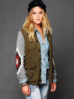 The Free People cargo jacket, $328.