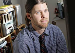 Baird Harper, winner of the Nelson Algren short story award, in his Edgewater office on on Tuesday, Dec. 14, 2010.  (Brian Cassella/ Chicago Tribune) B58929984Z.1 ....OUTSIDE TRIBUNE CO.- NO MAGS,  NO SALES, NO INTERNET, NO TV, NEW YORK TIMES OUT, CHICAGO OUT, NO DIGITAL MANIPULATION...