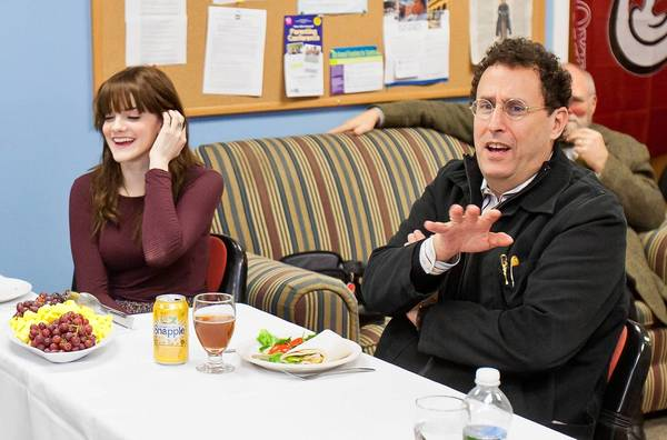 Tony Kushner had lunch with students at Kingswood-Oxford school in West Hartford on Friday, where he spent the day.