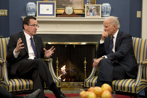 Gov. Dannel P. Malloy met Friday at the White House with Vice President Joe Biden about efforts to reduce gun violence after the Dec. 14 massacre at Sandy Hook Elementary School in Newtown.