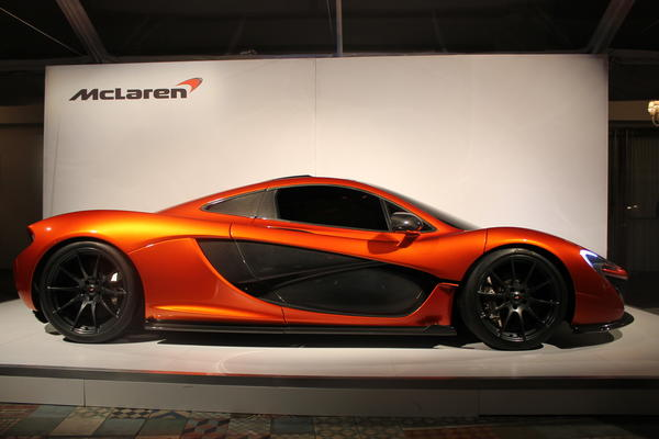 This McLaren P1 will go on sale in late 2013 for at least $1.2 million. It made its L.A. debut Thursday night, and full powertrain details will be revealed at the 2013 Geneva Motor Show in March.