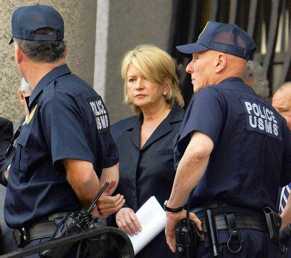 Since homemaking guru Martha Stewart's five-month stint in jail in 2004, there has been a steady drumbeat of celebrities accused of financial chicanery. And most of them have been played out in the media. Above, Stewart, flanked by U.S. Marshals, leaves after her sentencing in federal court in New York.
