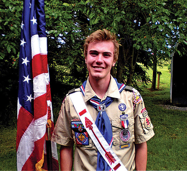 Troop 7 of Mercersburg honored Benjamin Harris Troupe with the highest award in Scouting, the Eagle Rank, on June 2, 2012, at the Charles Brightbill Environmental Center in Mercersburg