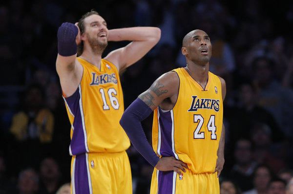 Lakers power forward Pau Gasol continues to seek a way to fit into the rotation while All-Star guard Kobe Bryant continues to search for help.