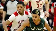 North Hagerstown was horrible at the foul line for most of the night, but when the Hubs needed some points with the clock stopped, they managed to knock a few down and secure a 67-63 win over city rival South Hagerstown on Friday.