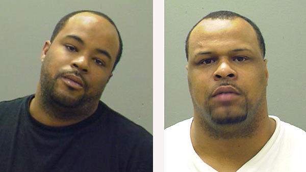 Michael McNabb, 32, of Chicago, (left)and Stephen Gilbert, 29, of Alsip, were charged with first degree murder in connection with the death of Tyrone Lawson January 16th, 2013 on the 9500 block of S. Martin Luther King Drive.