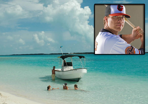 First baseman Chris Davis has had an adventurous offseason. He went to the Bahamas with teammate Tommy Hunter and other friends. He's also been keeping his nerves relaxed by hunting.