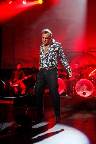 Morrissey performs at the Sovereign Performing Arts Center in Reading on January 18.