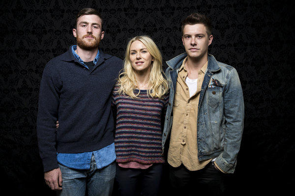 "James Frecheville, Naomi Watts and Xavier Samuel, who star with Robin Wright in ""Two Mothers,"" at the Sundance Film Festival."