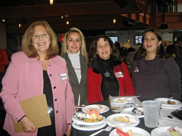 Official judges at the inaugural Cupcake Bowl fundraiser at the ArtsQuest Center on Dec. 29, included (from left) Denise Rohrbach, Kim Lilly, Dr. Christine Bongiorno and Kelly Huth. The event raised $10,000 for ArtsQuest educational programs.