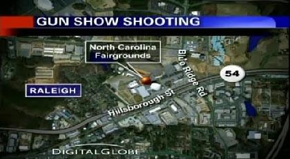 3 hurt at gun show in Raleigh