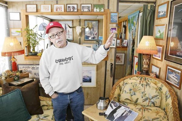 "Mike Libby, aka ""Mouse,"" has been a resident of Anchor Trailer Port for the past 16 years but must now find a new area to live in. He says his 1960s-era home is too old and decrepit to be moved."