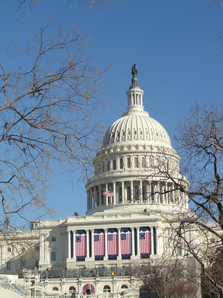 The Capitol Building in Washington, D.C., being prepared for the inauguration. Courtesy photo