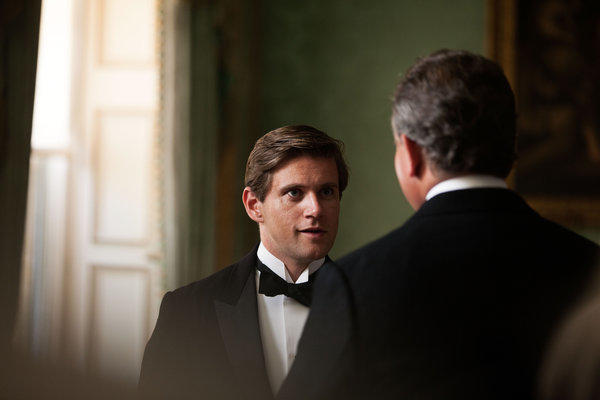 "Tom Branson played by Allen Leech on ""Downton Abbey."""