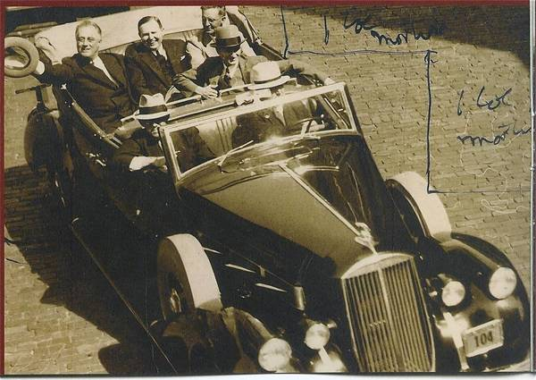 President Franklin Roosevelt (left) visits Central Florida on March 23, 1936. According to news reports, tens of thousands lined Orange Avenue and along a 10-mile route to get a glimpse of the president after he spoke at Rollins College in Winter Park. Florida's Gov David Sholtz is seated next to him.