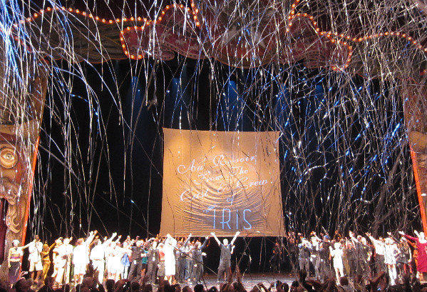 "Streamers rained down Saturday at the Dolby Theatre in Hollywood for the final performance of Cirque du Soleil's ""Iris."""