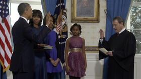 Obama sworn in to second term at White House ceremony