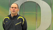 Mark Helfrich, the 39-year-old offensive coordinator who helped orchestrate Chip Kelly's high-powered offense, has been promoted to coach.