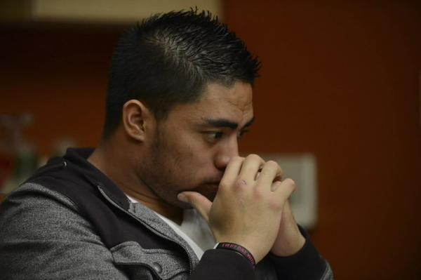 Manti Te'o during an interview with ESPN, in Bradenton, Florida, January 18, 2013, courtesy of ESPN. Notre Dame football star Te'o has denied ever being in on an elaborate hoax, telling ESPN he had believed his relationship with a woman who turned out to be an online fabrication was real. Picture taken January 18, 2013. REUTERS/Ryan Jones/ESPN Images/Handout
