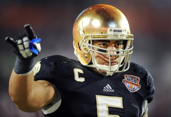 Notre Dame linebacker Manti Te'o says he was an unwitting victim caught up in the hype.