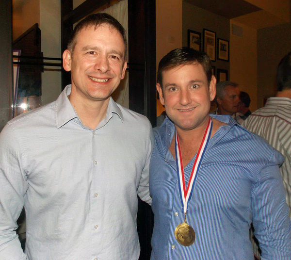 GLISA co-president Daniel Vaudrin posed with Miami Beach Commissioner Michael Góngora at the reception.