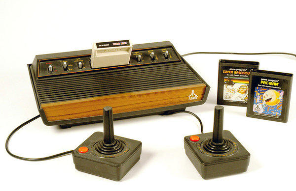 A classic Atari home video game system.