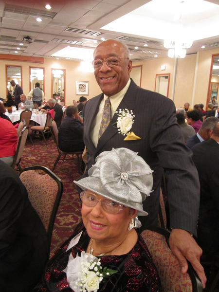Rosabell Roman, sitting, and Leonard Harris, standing, are the founders of the Martin Luther King Jr. Scholarship Banquet.