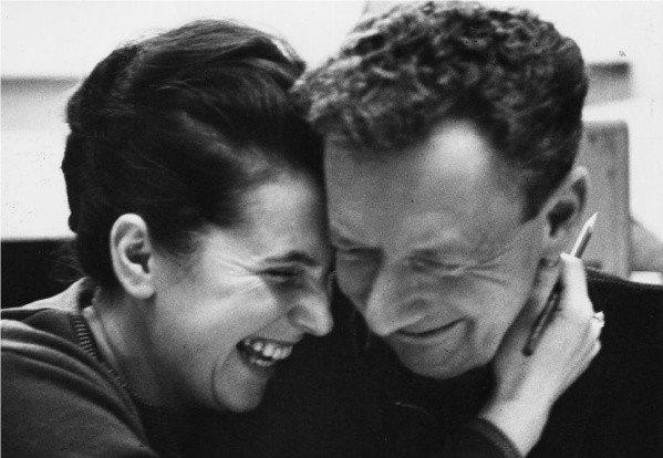 Composer Benjamin Britten, with soprano Galina Vishnevskaya, in an undated photo.