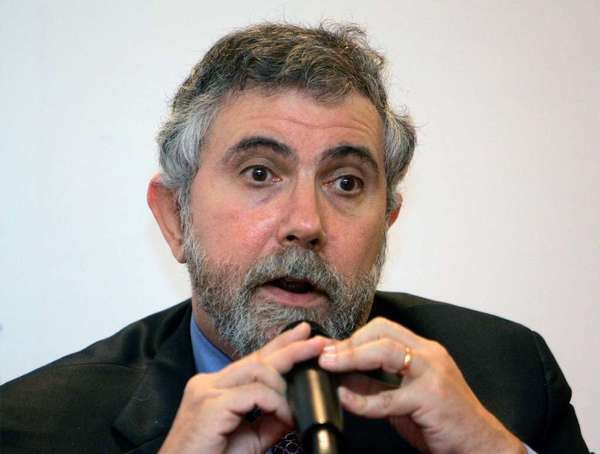 Nobel Prize-winning economist Paul Krugman speaking during a news conference at the World Capital Markets Symposium in Kuala Lumpur in 2009.