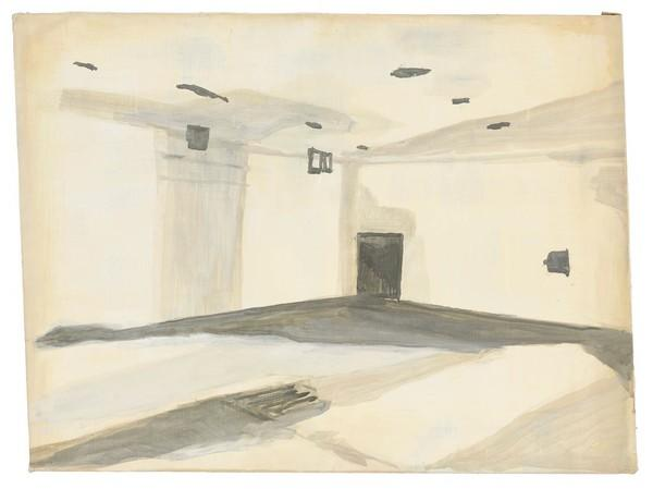 """Gaskamer"" (Gas Chamber): This 1986 oil painting is an example of Tuymans' work dealing in images that can be misread at a glance."